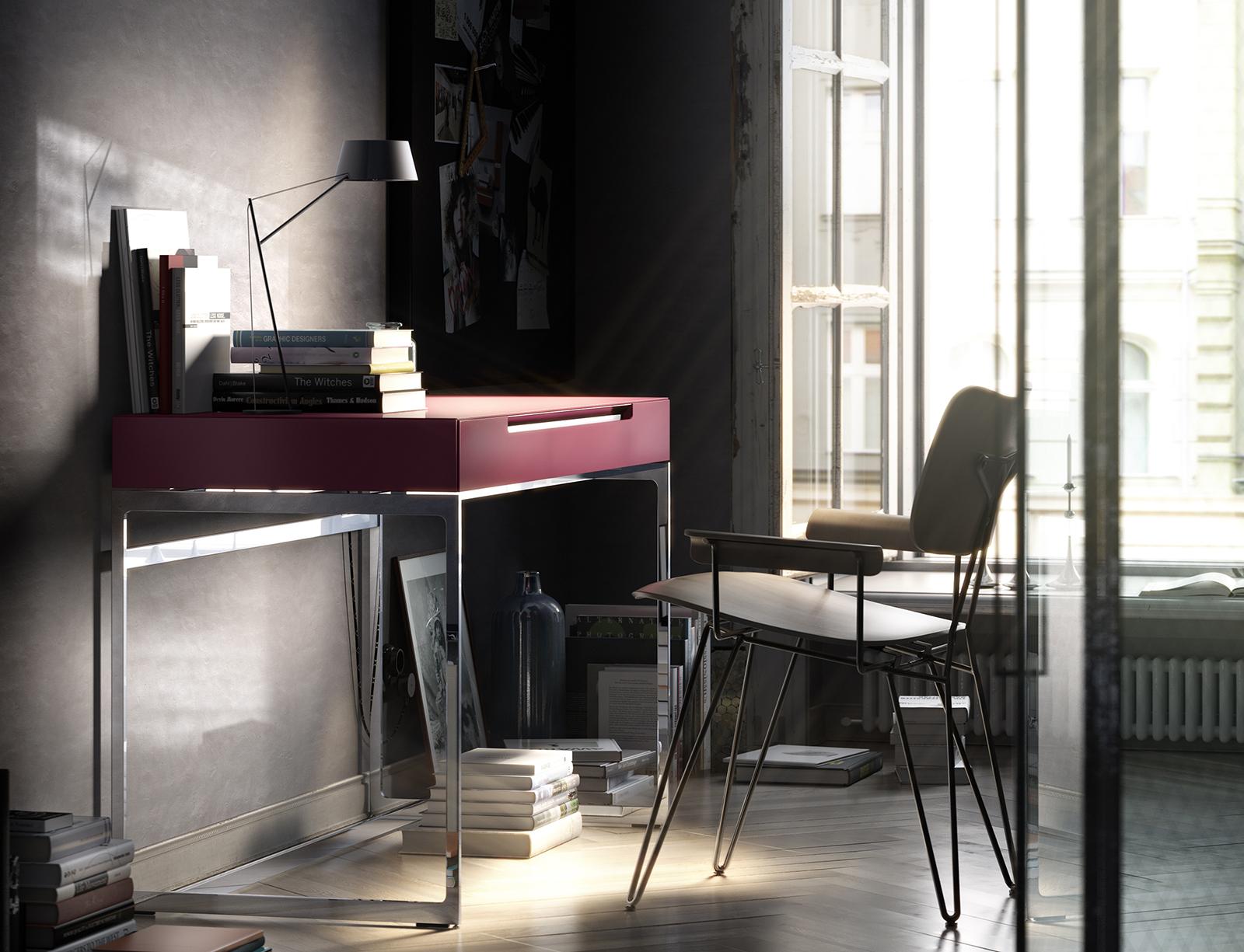 Interlübke Tisch Schreibtisch Mell Sekret Reutlingen